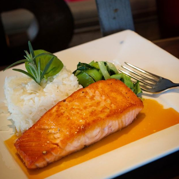 Pan Seared Salmon at B Square
