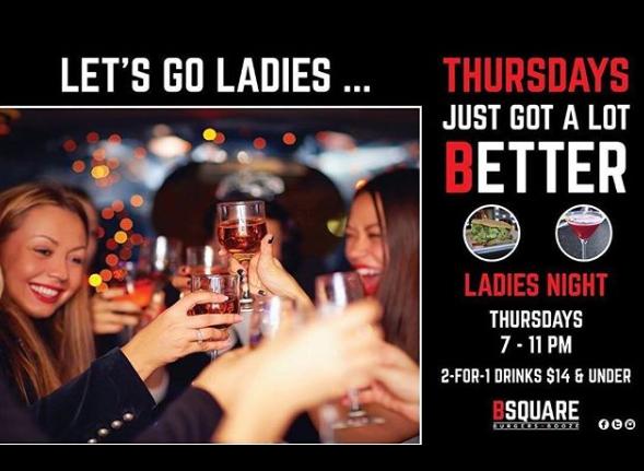Ladies Night at B Square Burgers